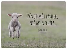 Pohľadnica: Pán je môj pastier...