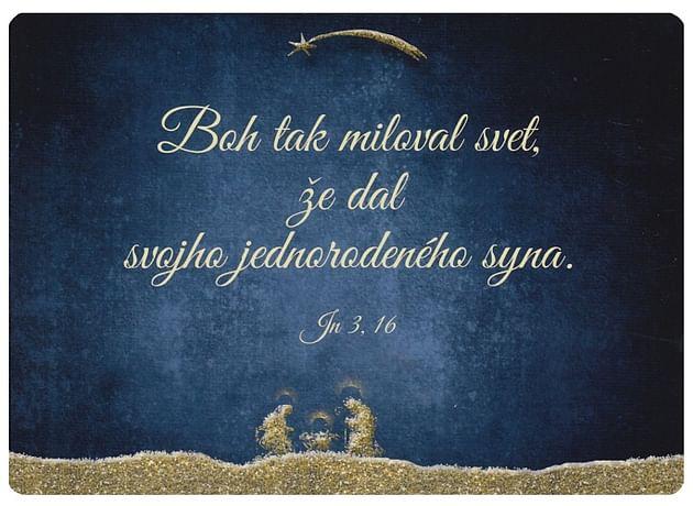 Pohľadnica: Boh tak miloval svet...
