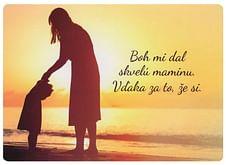 Pohľadnica: Boh mi dal skvelú maminu.