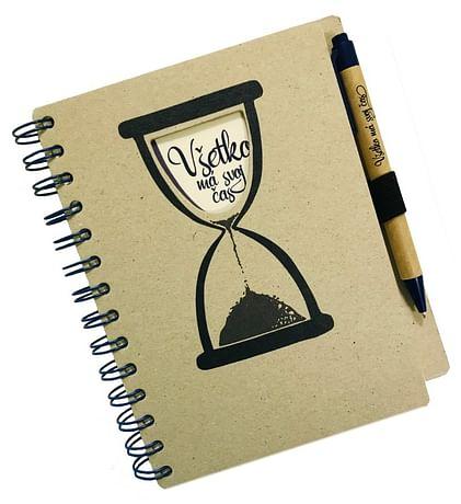 Zápisník s perom: Všetko má svoj čas (A5)