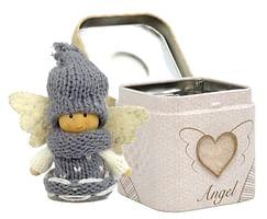 Anjel: v plechovej krabičke - sivý (3901)