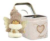 Anjel: v plechovej krabičke - biely (3901)