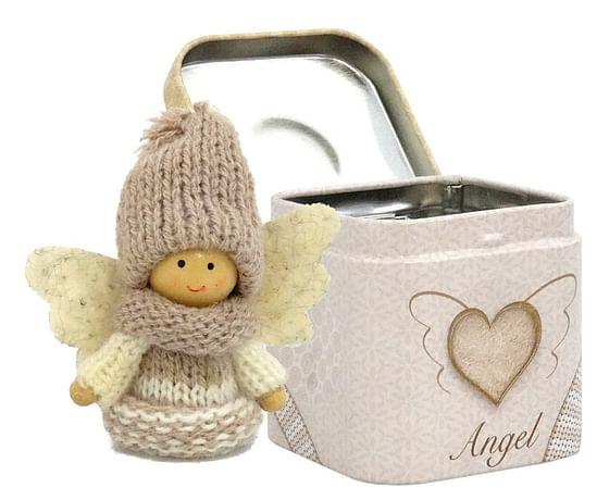 Anjel: v plechovej krabičke - béžový (3901)