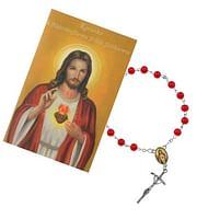 Ruženec: Božské Srdce Ježišovo, s obrázkom (R1378 + Z037)