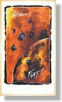 Pohľadnica: Zdravas... FIAT! oranžová, s textom (MH)
