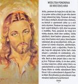 Záložka: Modlitba ponorenia do Kristovej krvi