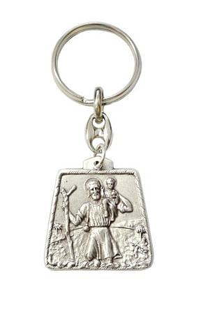 Kľúčenka: sv. Krištof, kovová (FP124)