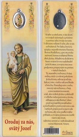 Záložka s medailónom: Oroduj za nás, svätý Jozef! (Z007)