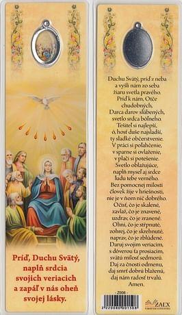 Záložka s medailónom: Príď, Duchu Svätý... (Z006)