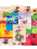 Pohľadnica: gratulačná s textom,  mix 12 ks