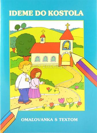 Omaľovánka - Ideme do kostola