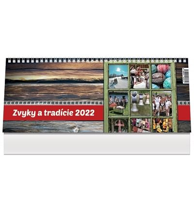 Kalendár: Zvyky a tradície, stolový - 2022 (PG)