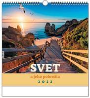 Kalendár: Svet a jeho pobrežia, nástenný - 2022