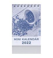 Mini kalendár: stolový, modrý - 2022 (Neo)