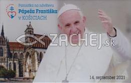 Magnetka: Pápež František v Košiciach, drevená