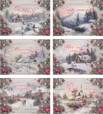 Pohľadnica: vianočná (STIVA séria 9132)