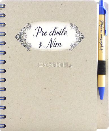 Zápisník s perom: Pre chvíle s Ním (A5)