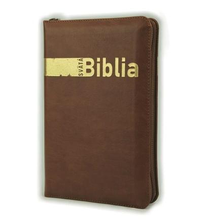 Svätá Biblia: Roháčkov preklad, so zipsom, s indexmi - hnedá