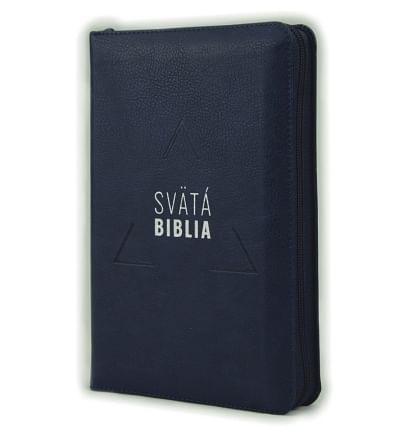Svätá Biblia: Roháčkov preklad, so zipsom, s indexami - tmavomodrá