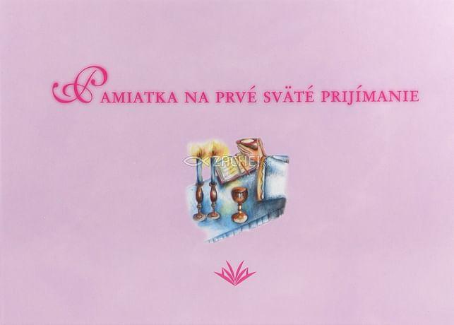 Pamiatka na prvé sväté prijímanie (VMV - ružová)