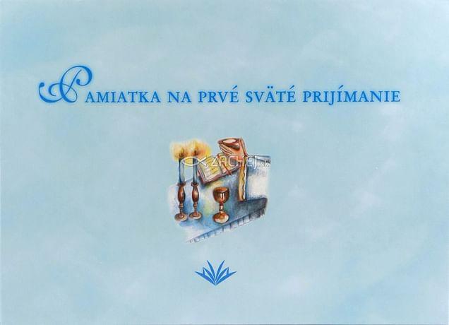 Pamiatka na prvé sväté prijímanie (VMV - modrá)