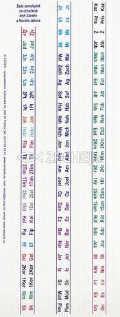 Samolepky: štítky do veľkej Biblie - farebné