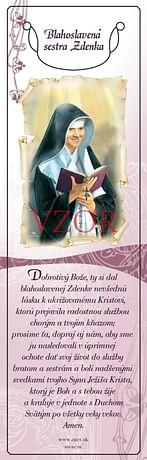 Záložka: Bl. sestra Zdenka (BM BZ SK)