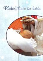 Pozdrav: Blahoželanie ku krstu - s textom (modré)